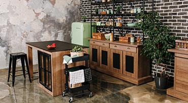 Style industriel dans une cuisine